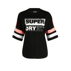 Superdry Funkční tričko  bílá / korálová / černá
