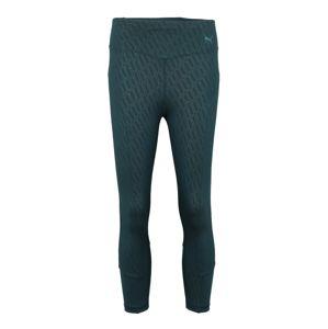 PUMA Sportovní kalhoty 'Bold Graphic'  tmavě zelená