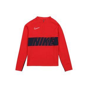 NIKE Sportovní mikina 'Dry Academy Drill'  námořnická modř / bílá / červená