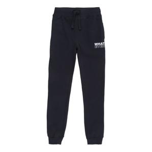 BLUE SEVEN Kalhoty  noční modrá / bílá