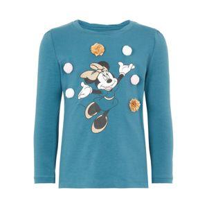 NAME IT Tričko 'Disney Weihnachts Minnie Mouse'  modrá