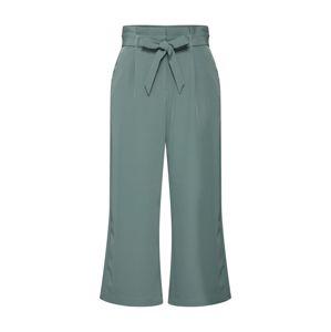 VERO MODA Kalhoty se sklady v pase  zelená