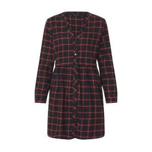 Trendyol Košilové šaty  vínově červená