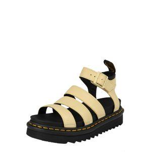 Dr. Martens Páskové sandály 'Chunky Blaire'  pastelově žlutá