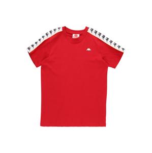 KAPPA Tričko 'Hanno'  broskvová / bílá / tmavě šedá / červený melír