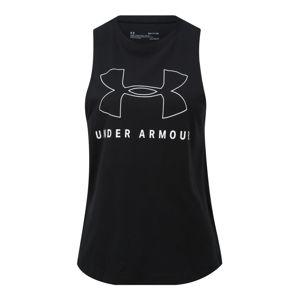 UNDER ARMOUR Sportovní top 'SPORTSTYLE GRAPHIC MUSCLE'  bílá / černá