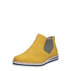 RIEKER Chelsea boty 'N0255-14'  šedá / hořčicová