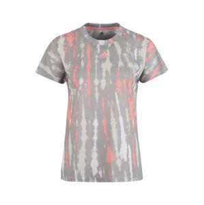 ADIDAS PERFORMANCE Funkční tričko 'AI Q1'  bílá / šedá / růžová