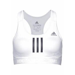 ADIDAS PERFORMANCE Sportovní podprsenka 'Drst Alphaskin'  černá / bílá