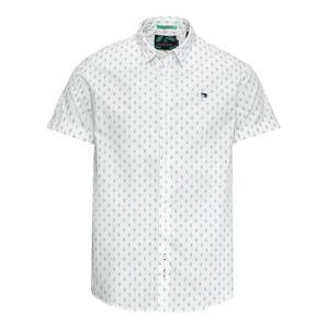 SCOTCH & SODA Košile 'Classic shortsleeve poplin shirt'  tmavě modrá / bílá