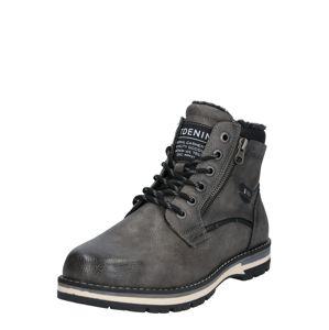 TOM TAILOR DENIM Šněrovací boty  šedá