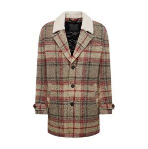 DRYKORN Zimní kabát 'SUNT'  šedá / červená