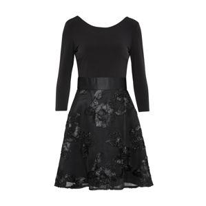 SWING Koktejlové šaty  černá