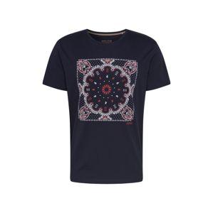 ESPRIT Tričko  námořnická modř / světlemodrá / červená
