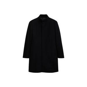 MANGO MAN Zimní kabát  černá