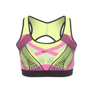 NIKE Sportovní podprsenka  žlutá / pink / černá