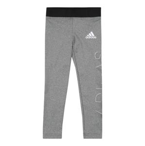 ADIDAS PERFORMANCE Sportovní kalhoty  bílá / černá / šedá