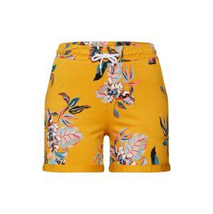 ONLY Kalhoty 'BIRDY'  tmavě žlutá / mix barev
