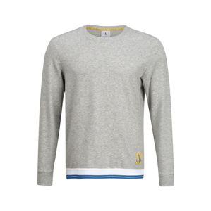 Calvin Klein Underwear Pyžamo dlouhé  šedý melír / bílá / modrá / žlutá