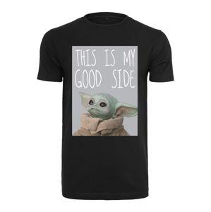 Mister Tee Tričko 'Baby Yoda Good Side'  černá / mix barev