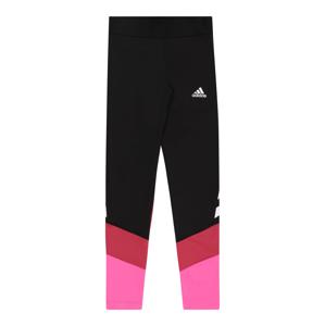 ADIDAS PERFORMANCE Sportovní kalhoty  černá / grenadina / svítivě růžová / bílá