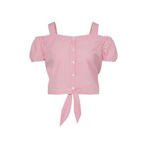 ONLY Top 'NICOLEN'  pink / bílá