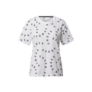 UNDER ARMOUR Funkční tričko  černá / bílá