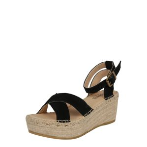 espadrij l´originale Páskové sandály 'Marseille'  černá