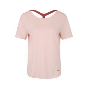 NIKE Funkční tričko 'W NK DRY SS TOP ELASTIKA'  růžová / rezavě červená