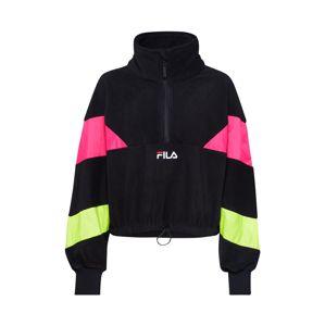 FILA Mikina 'RAFIYA'  svítivě žlutá / pink / černá
