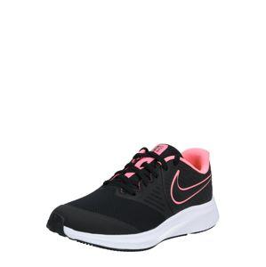 NIKE Sportovní boty  světle růžová / černá
