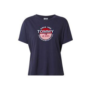 Tommy Jeans Tričko  námořnická modř / červená / pastelově červená / bílá