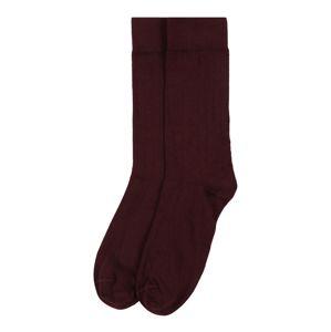 KnowledgeCotton Apparel Ponožky 'Timber'  vínově červená