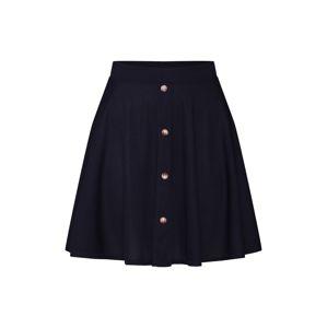 Boohoo Sukně 'Basic Button Front Ribbed Skater Mini Skirt'  černá