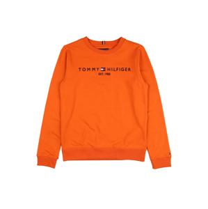 TOMMY HILFIGER Mikina  oranžová / námořnická modř / bílá / červená