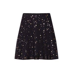 Mint&berry Sukně 'Skater skirt with gold star foil print'  zlatá / černá