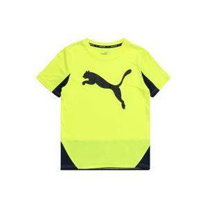PUMA Funkční tričko 'Cat Graphic Poly'  žlutá