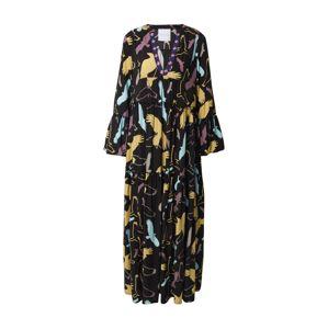 DELICATELOVE Maxi šaty 'Vicky Birds'  černá