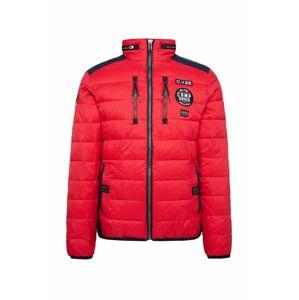 CAMP DAVID Zimní bunda  červená / námořnická modř