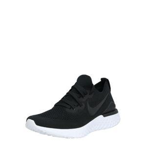 NIKE Sportovní boty 'Epic React Flyknit 2'  černá / bílá