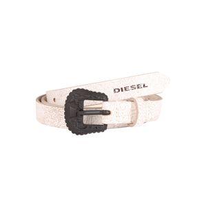 DIESEL Opasek 'B-TRIT - belt'  bílá