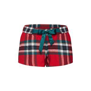 Hunkemöller Pyžamové kalhoty  zelená / červená