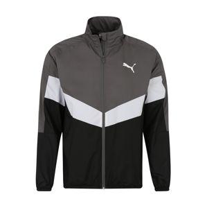 PUMA Sportovní bunda 'CB Windbreaker'  černá / šedá / bílá