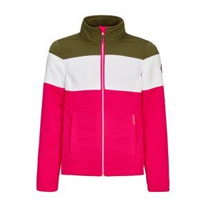 KILLTEC Přechodná bunda  zelená / pink / bílá