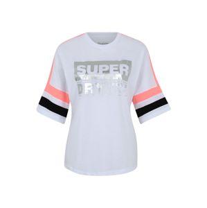 Superdry Funkční tričko 'STREETSPORT TEE'  černá / bílá / stříbrná / korálová