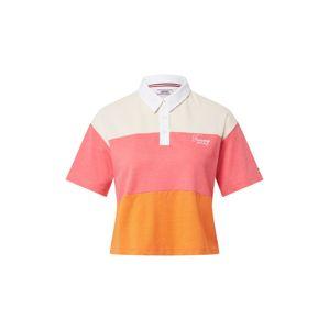 Tommy Jeans Tričko  oranžová / bílá / pink