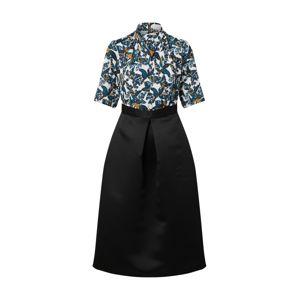 Closet London Šaty 'Gold Twist'  černá / zelená