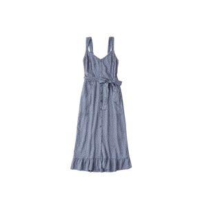 Abercrombie & Fitch Letní šaty 'RUFFLE HEM'  modrá