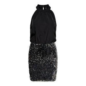 ONLY Koktejlové šaty  černá / stříbrná