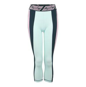 PUMA Sportovní kalhoty 'Own It'  smaragdová / mátová / růžová